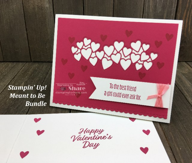 Stampin' Up! Meant to Be Bundle for Valentines Day created by Kay Kalthoff for #stampingtoshare