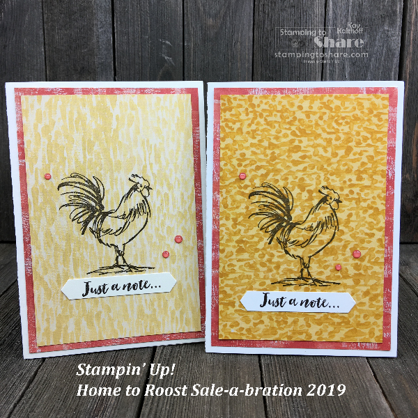 Stampin' Up! Home to Rooset #simplestamping for #stampingtoshare by Kay Kalthoff