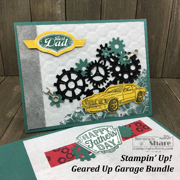 Stampin' Up! Geared Up Garage Bundle for Father's Day created by Kay Kalthoff for #stampingtoshare