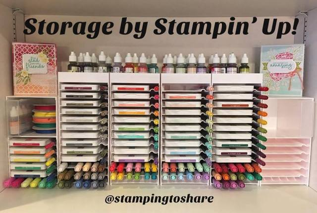 Storage by Stampin' Up! found a home in Kay's Home Office at #stampingtoshare