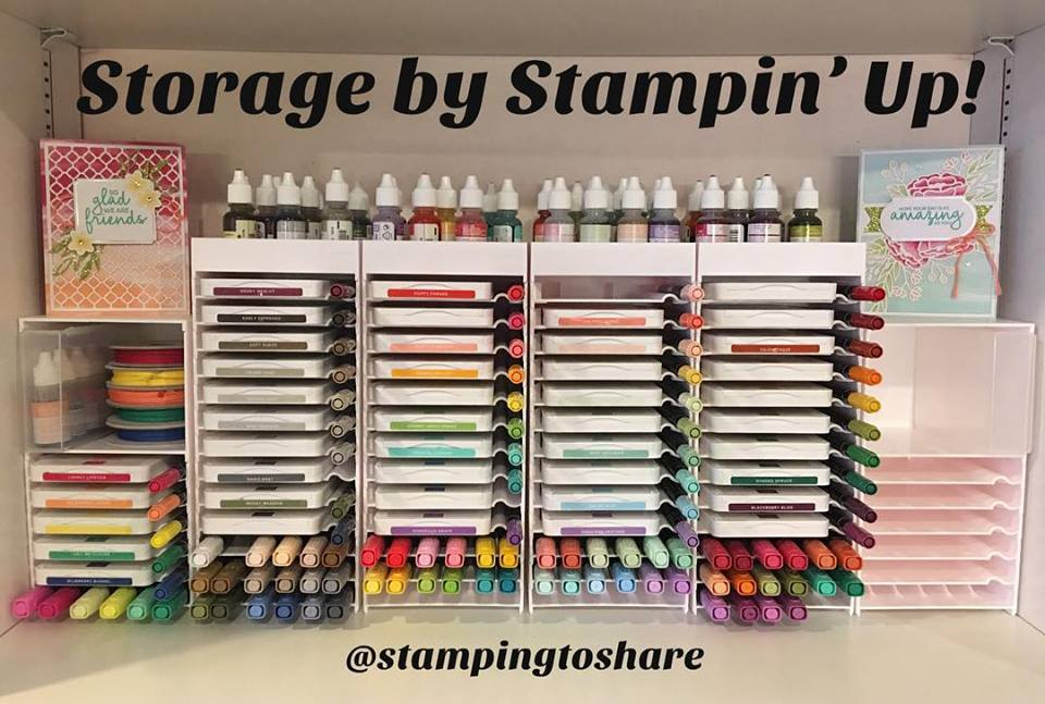 Storage by Stampin' Up! Check out my newly organized ink station!