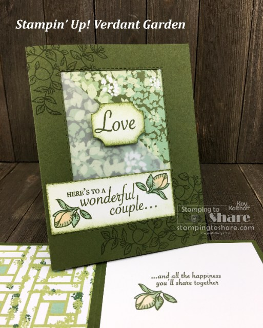 Verdant Garden with Garden Lane Paper created by Kay Kalthoff for #stampingtoshare