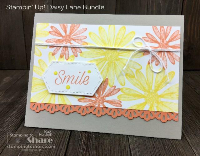 Summer Card using Stampin' Up! Daisy Lane
