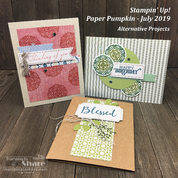 July Paper Pumpkin from Stampin' Up! Alternative Cards