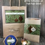 Our Fall Flair 2019 Project Bag, Product Bag, Name Tag and Chocolate Treat Holder all featuring Stampin