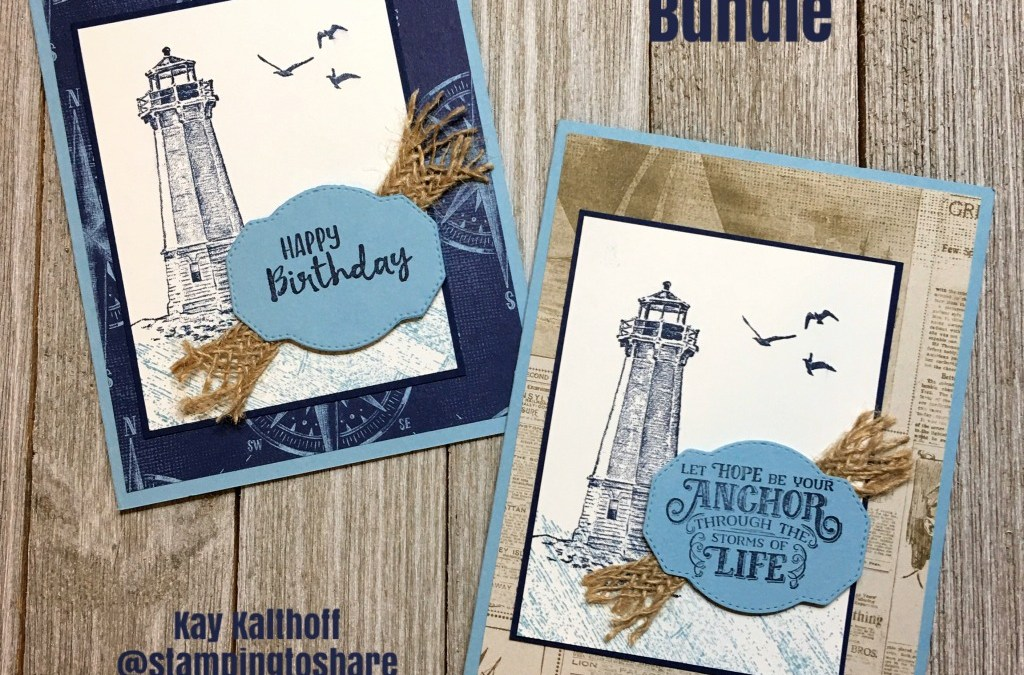 Create Clean and Simple Masculine Cards with the Sailing Home Bundle