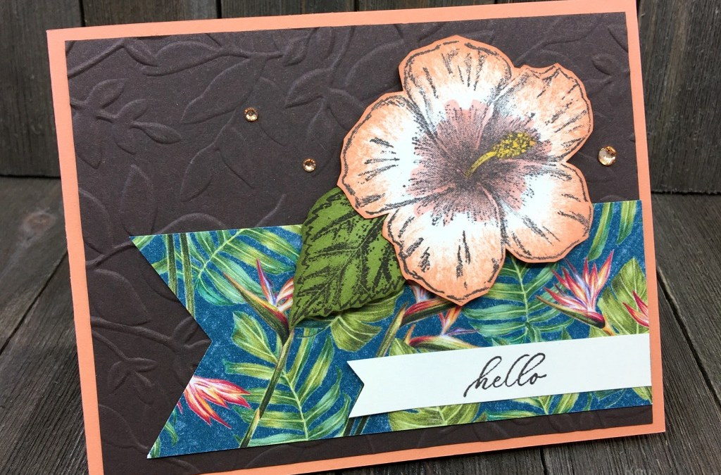 How to Make a Pretty and Elegant Card with Stampin' Up! Timeless Tropical Bundle