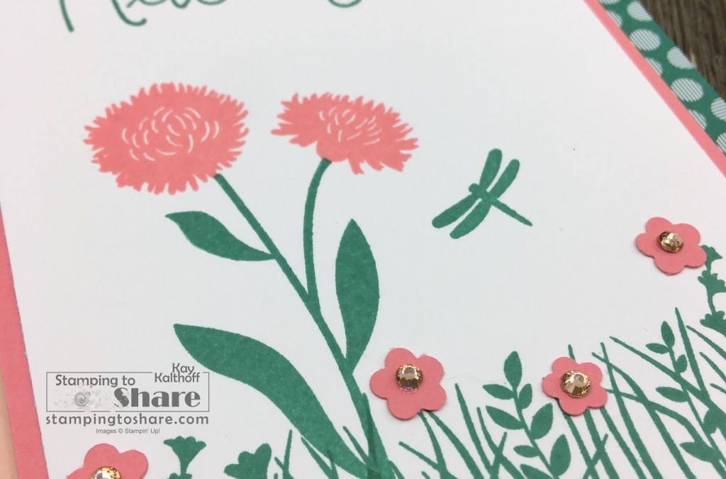 How to Make a Thinking of You Card with Field of Flowers