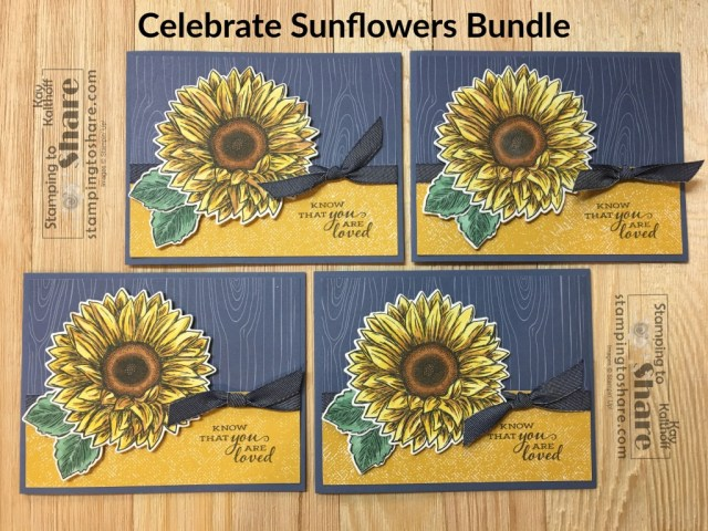 How to Make a Card with Stampin' Up! Summer Sunflower Bundle