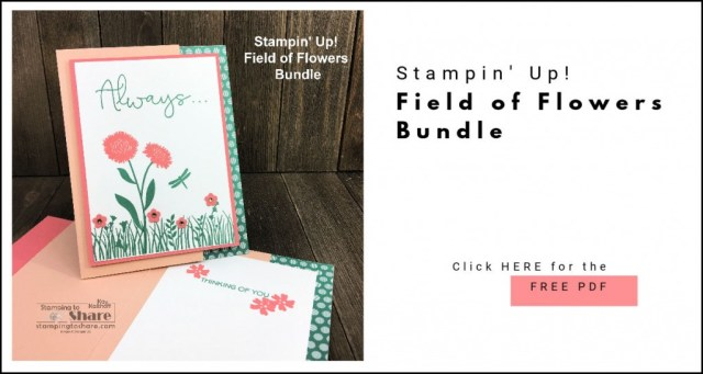 FREE PDF for Stampin' Up! Field of Flowers Thinking of You Card