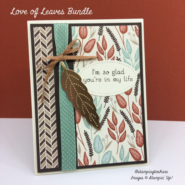 Stampin' Up! Love of Leaves Bundle for Fall Card Making