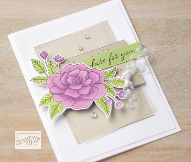Here for You Card created with So Much Love stamp set by Stampin' Up!