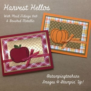 Fall Card Making with Harvest Hellos and Plaid Tidings