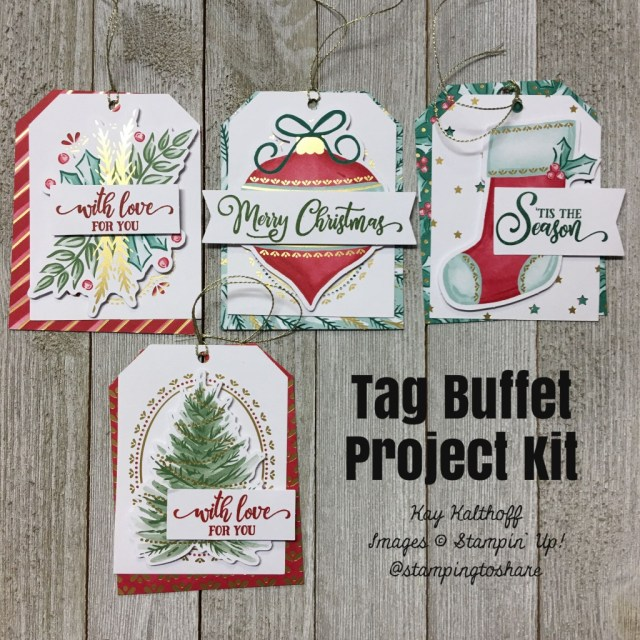 Tag Buffet Kit and Stamp Set for Christmas Tags & Gifts