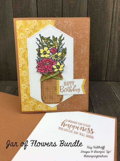 Stampin' Up! Jar of Flowers Bundle for Fall Cards by Kay Kalthoff with Stamping to Share