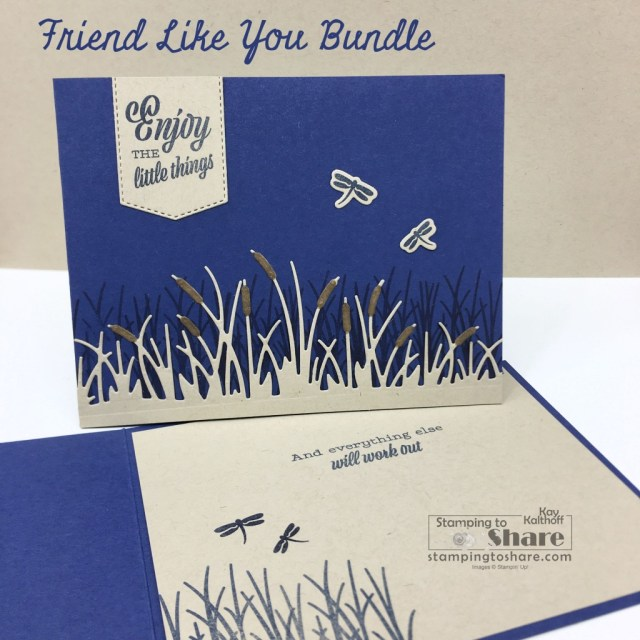 Friend Like You with Friendly Silhouettes Dies for nature cards created by Kay Kalthoff with Stamping to Share - also great for Masculine Cards