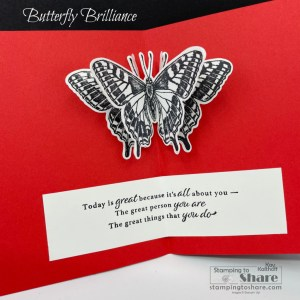 Butterfly Brilliance with Inside Panel Pop Up!