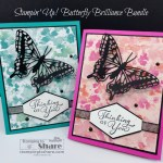 Butterfly Brilliance Bundle and Happy Thoughts and Butterfly Bijou 6x6 DSP by Kay Kalthoff with Stampin
