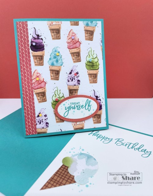 Sweet Ice Cream Bundle - Treat Yourself! Created by Kay Kalthoff with Stamping to Share.