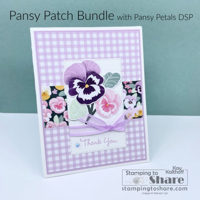 Stampin' Up! Pansy Patch Bundle with a Fresh Freesia Look!