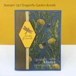 Dragonfly Garden Bundle with Bark 3D Embossing Folder and Dandy Garden DSP