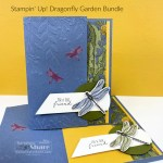 A fun closure card with the Dragonfly Garden Bundle created by Kay Kalthoff with Stamping to Share using Stampin