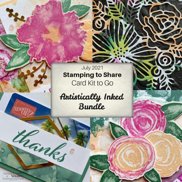 Stampin' Up! Artistically Inked Card Kit to Go for July 2021