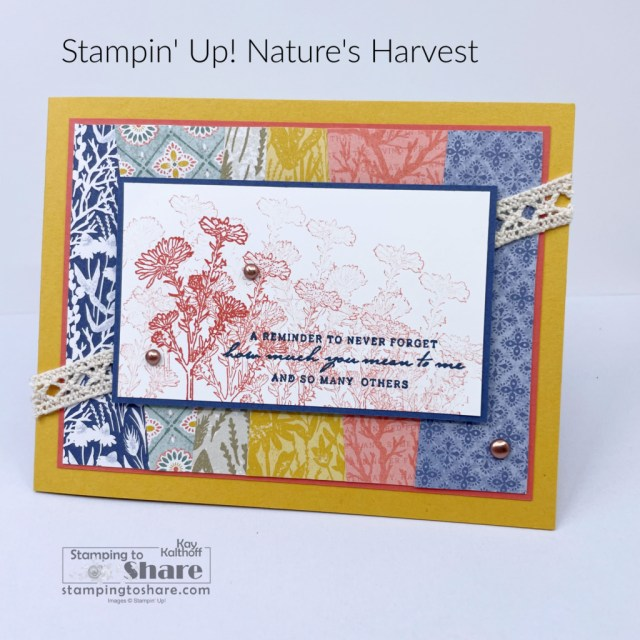 Nature's Harvest with fun scraps background