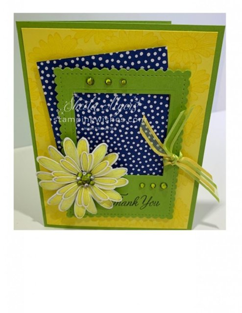 Picure Frame Card-Daisy Lane