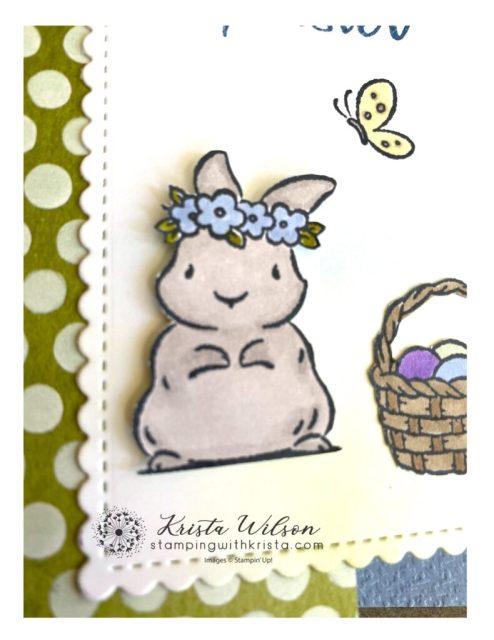 The sweet bunny from Springtime Joy was colored with Gray Granite - first outline the bunny with the dark Gray Granite, then fill in with the lighter Gray Granite.