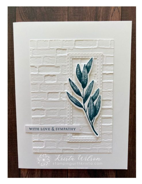 """This is an almost """"goof proof"""" card featuring the Forever Fern bundle and the Stitched Rectangles Dies.  The card is simple but contains lots of """"yummy"""" texture."""