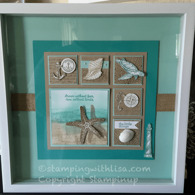 Beachy Framed Art Stamping With Lisa