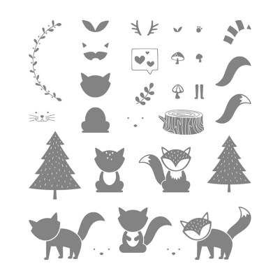 Foxy Friends Stamp Images