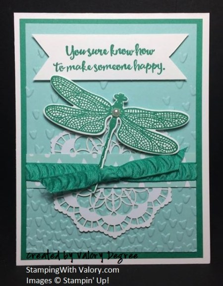 Emerald Dragonfly Thank You Card