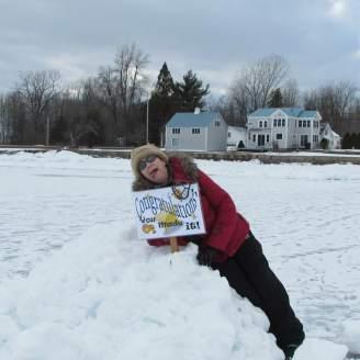 Mindy on Lake Champlain