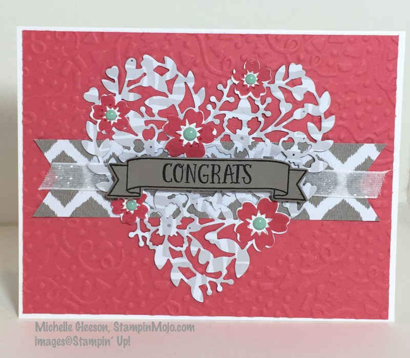 Blooming' Heart Thinly Die, StampinMojo, Confetti Textured Embossing Folder,