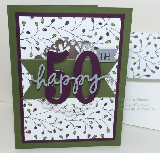 50th Birthday card, StampinMojo,