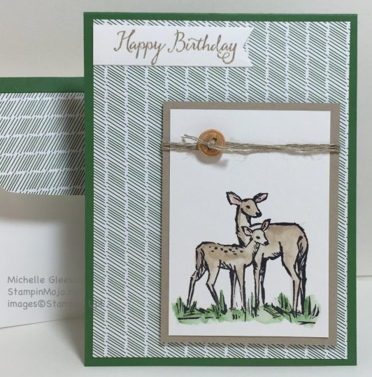 Masculine Birthday card, StampinMojo, Michelle Gleeson