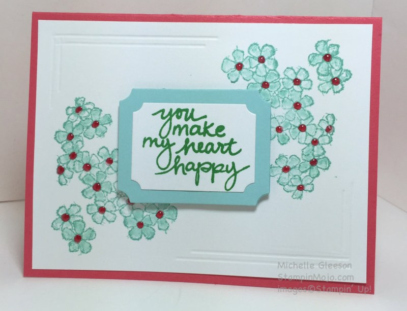StampinMojo, Michelle Gleeson, PPA291, Birthday Blossoms, Lovely Amazing You