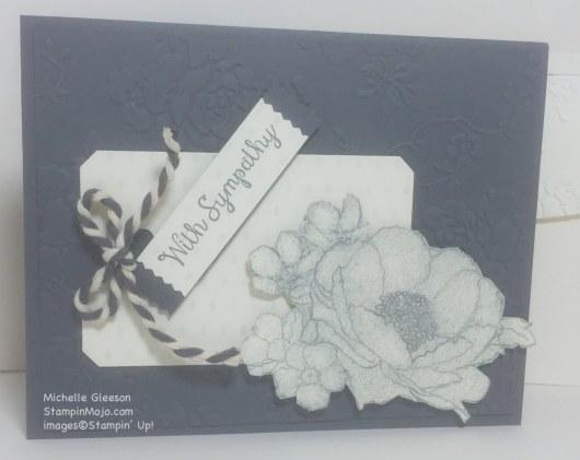 StampinMojo, PPA296, Timeless Elegance, Sympathy card