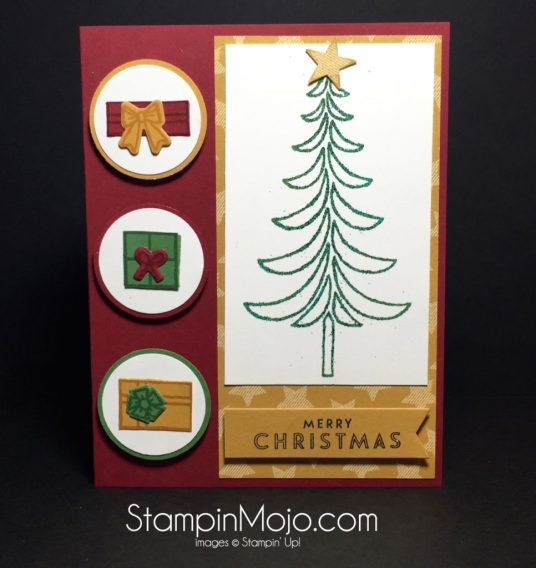 Stampin Up Santa's Sleigh Christmas Card Idea - Michelle Gleeson Stampinup