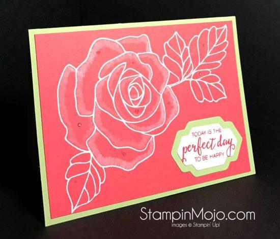 Stampin Up Rose Wonder Birthday card Michelle Gleeson Stampinup SU