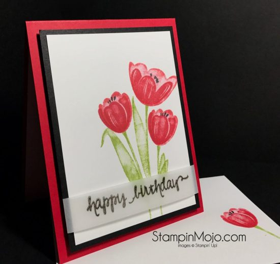 Stampin Up Tranquil Tulips Birthday Card Ideas Michelle Gleeson stampinup SU
