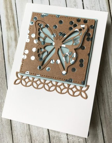 Stampin Up Soft Sky Foil Frenzy You Move Me Flourish Thinlits Michelle Gleeson Stampinup SU