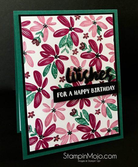 WPlus9 Happy Wishes Bundle SU 2017-2019 In-Colors Michelle Gleeson Birthday card idea