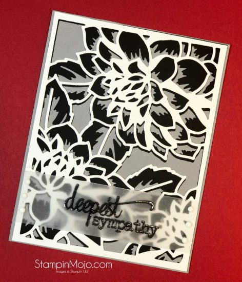 TTTC012 Altenew Floral Cover Die A and B Sympahty card ideas Michelle Gleeson