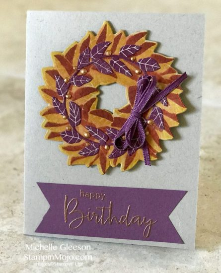 Concord&9th Magnolia Wreath Simon Says Stamp Thoughtful Messages Birthday Card ideas Michelle Gleeson
