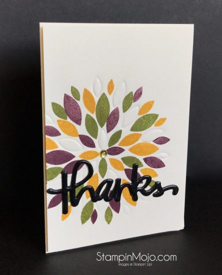 Concord & 9th Dahlia stamp set and die Thank you card idea Michelle Gleeson