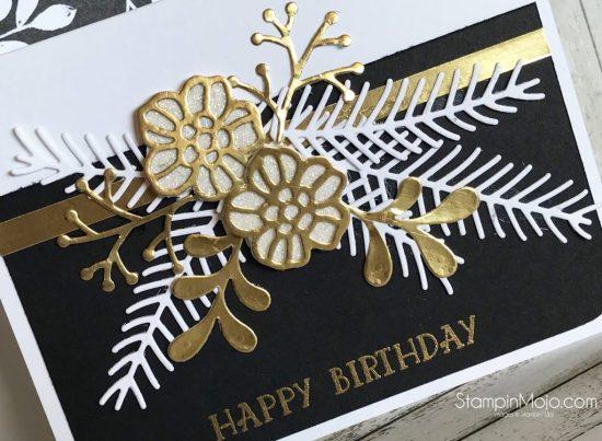 Stampin Up Pretty Pines Thinlits Rose Garden Thinlits Birthday Card Ideas Michelle Gleeson Stampinup SU