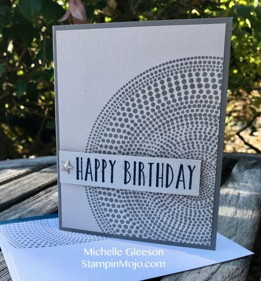 Stampin Up Perennial Birthday Hero Arts Sunburst Bold Print Background stamp Masculine Birthday card Michelle Gleeson Stampinup SU